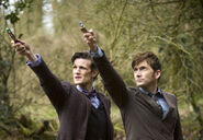 The doctors with sonic screwdrivers