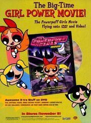 Powerpuff Girls Movie DVD print ad NickMag Nov 2002