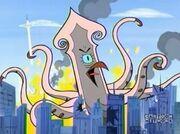 Giant squid monster