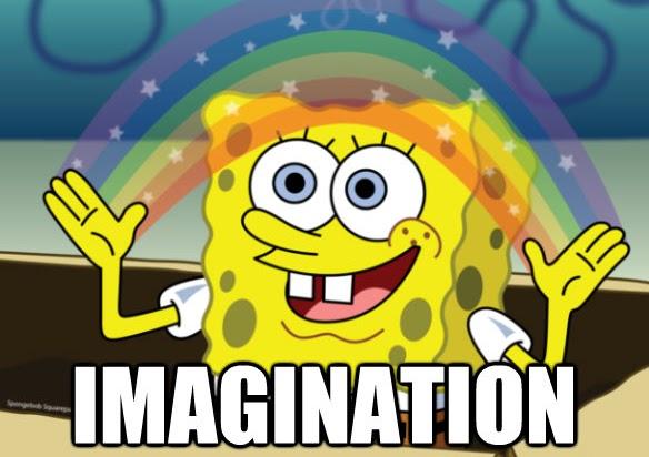Spongebob imagination image via https://powerpuffgirls.fandom.com/wiki/File:Spongebob_imagination_by_kssael_display_zps742422d7.jpeg