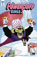 Powerpuff Girls Time Tie issue 1 subscription cover