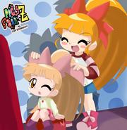 The sisters momoko and kuriko by bipinkbunny-d4lf91i
