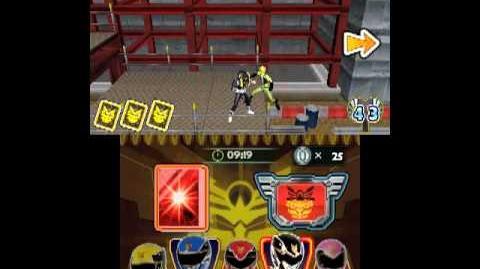 Power Rangers Mega Force 3DS - Original Power Rangers Skins