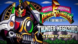 Mighty Morphin Power Rangers The Fighting Edition (SNES) - Story Mode - Thunder Megazord