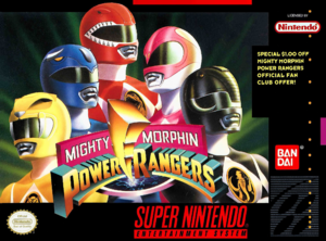 Mighty Morphin Power Rangers SNES cover USA