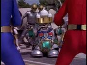 12 Blue and Red Rangers in same shot as Cogs and Prince Sprocket - new footage - Challenges