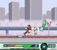 Red Racer vs Combatant Wumpers