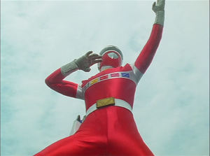 MegaRed in Gaoranger vs. Super Sentai