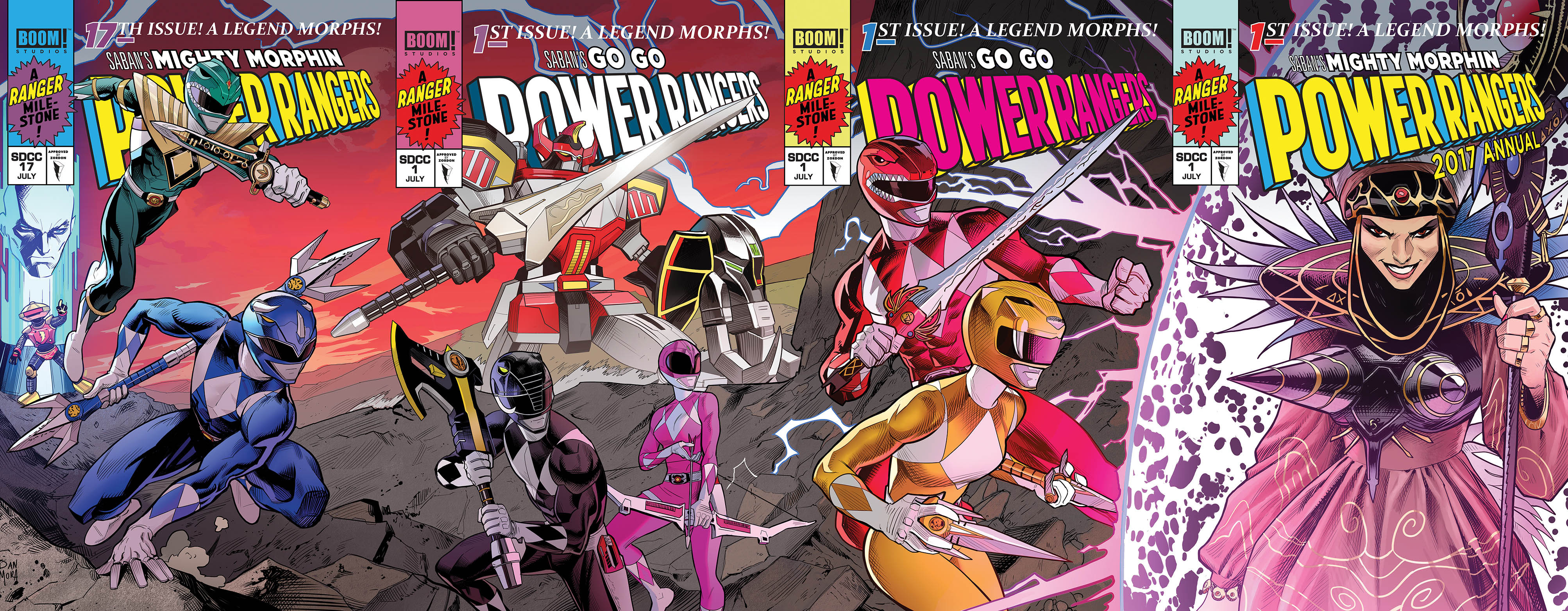 Special Variant Cover Versions Of The Issue Were Given Out At Sdcc  Which If Combined With  Other Comics Sold At The Event Would Form A Gatefold