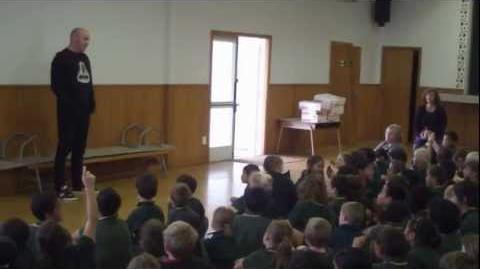 Gerald Urquhart visits Netherby School