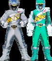 Kyoryu Gray and Kyoryu Green Armed-On