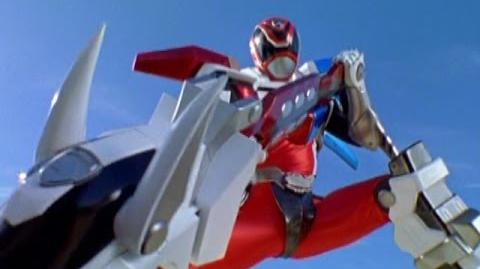 Power Rangers S.P.D. - Red Ranger Battlizer Morph and Fight (Reflections Episode)