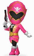 Pink Super Megaforce Rangers In Power Rangers Dash