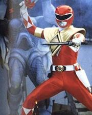 Red Ranger with Dragon Dagger Shield