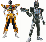 Gokai Silver Gold Mode & Diend Complete Form