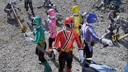Super Mega Rangers as Samurai Rangers