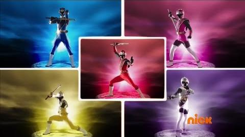 Power Rangers Ninja Steel - Forged in Steel - First Power Rangers Team Morph (Episode 2)