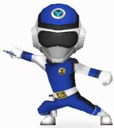 Blue Prism Ranger in Power Rangers Dash