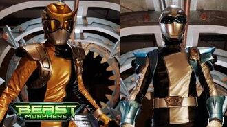 Power Rangers Beast Morphers - Chosen Gold and Silver Rangers - First Morph and Battle - Episode 8