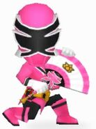 Pink Samurai Ranger In Power Rangers Dash