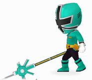Green Samurai Ranger In Power Rangers Dash