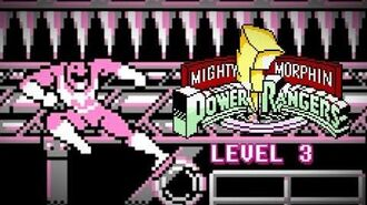 Mighty Morphin Power Rangers (Game Boy) - Level 3 Gameplay - Megazord vs. Baboo