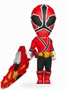 Red Samurai Ranger In Power Rangers Dash