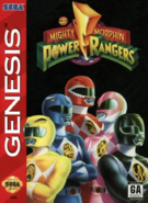 Mighty Morphin Power Rangers Sega cover USA