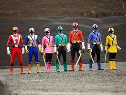 RPM Red and Samurai Rangers