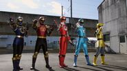 Super Mega Rangers as Wind and Thunder Rangers