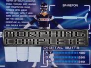 Black Space Ranger Morph 2