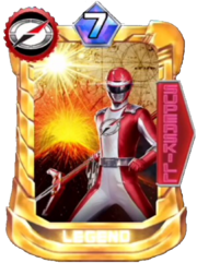 BoukenRed Card in Super Sentai Legend Wars