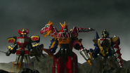 Daizyujin, Kyoryuzin and AbarenOh in the Movie