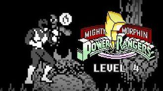Mighty Morphin Power Rangers (Game Boy) - Level 4 Gameplay - Megazord vs. Goldar