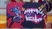 Shou Pegasus vs giant monster