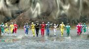 Dimensional wall - Gingaman, Megaranger, Gaoranger, Timeranger, GoGo-V