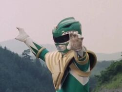 Mighty Morphin Green Ranger Pose