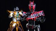 Gokai Silver Gold Mode and Decade Complete Form