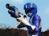 Foam Gun Billy holding itMMPR