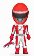 Red Overdrive Ranger in Power Rangers Dash