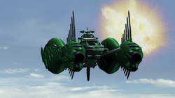 Green Zangyack Ship