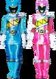 Kyoryu Cyan and Kyoryu Pink Armed-On