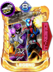 KyoryuViolet male & Kamen Rider Build Card in Super Sentai Legend Wars