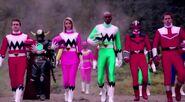Leo, Karone, Damon and Wes in Super Megaforce