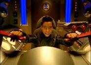Blake in Cockpit