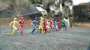 Dimensional wall - Abaranger, Hurricaneger, Boukenger, Magiranger, Dekaranger