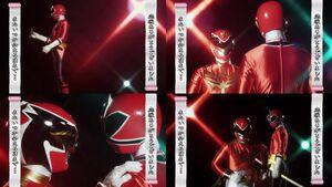 Red Senshi Handover- Shinkenger - Goseiger