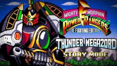 Mighty Morphin Power Rangers The Fighting Edition - Playthrough - Story Mode - Thunder Megazord