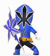 Blue Samurai Ranger In Power Rangers Dash