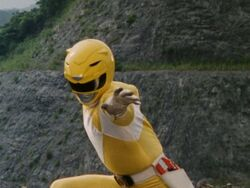 Mighty Morphin Yellow Ranger Pose